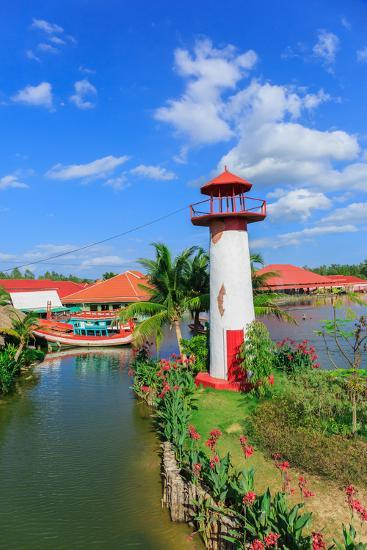 Replica Lighthouse at Hua Hin in Thailand- sarayuth3390-Photographic Print