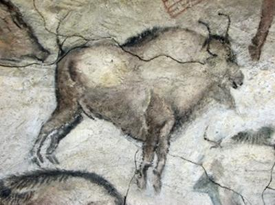 Replica of Cave Painting of Bison from Altamira Cave
