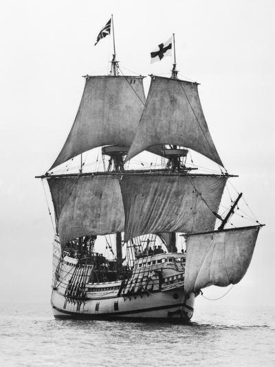 Replica of Mayflower Sailing--Photographic Print