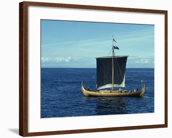 Replica of the Gokstad Viking Ship, Norway, Scandinavia, Europe-Lomax David-Framed Photographic Print