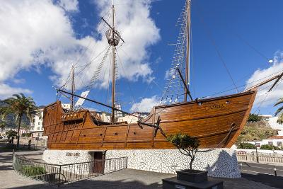 Replica of the Ship Santa Maria of Christoph Columbus, the Museum of Naval, La Palma-Gerhard Wild-Photographic Print