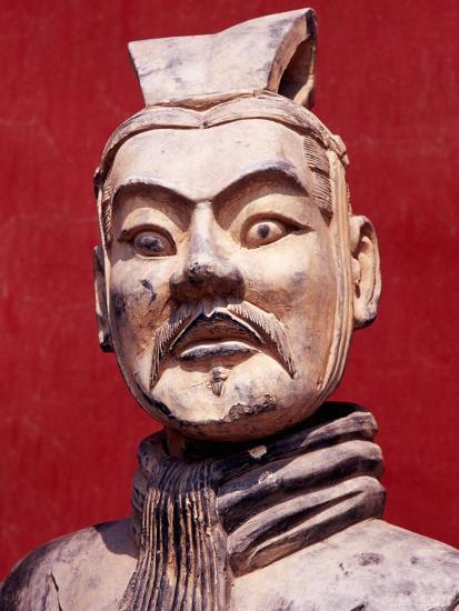 Replica Terracotta Warrior Outside Drum Tower, Beijing, China-Krzysztof Dydynski-Photographic Print