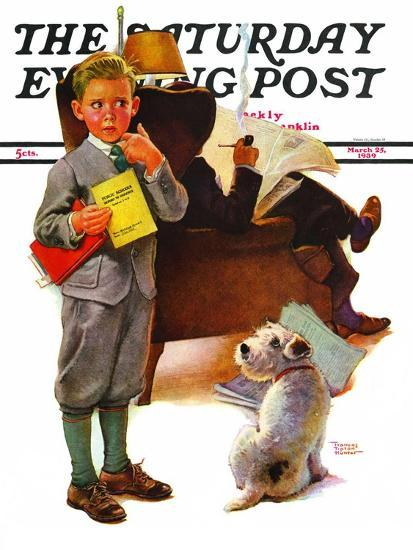 report card saturday evening post cover march 25 1939 giclee