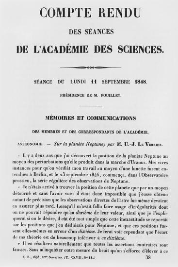 Report of the Sessions at the Academie Des Sciences--Giclee Print