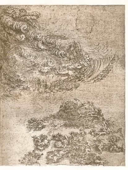 Representation of a tempest, c1472-c1519 (1883)-Leonardo da Vinci-Giclee Print