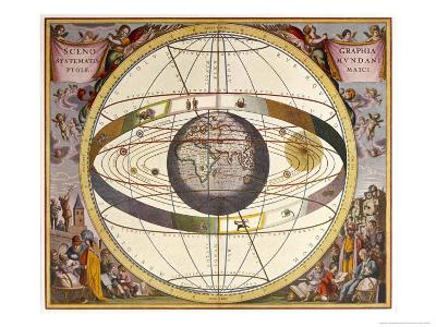 Representation of Ptolemy's System Showing Earth-Andreas Cellarius-Giclee Print