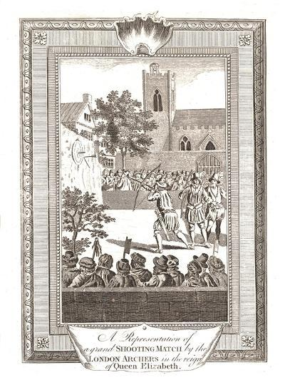 Representations of the Shooting Match by the London Archers in the Reign of Queen Elizabeth, 1793--Giclee Print