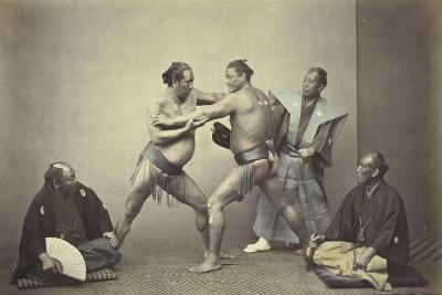 Representatives of Nio, the Japanese Hercules, 1866-7-Felice Beato-Giclee Print