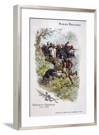 Repression at Brazzaville, August 1896--Framed Giclee Print