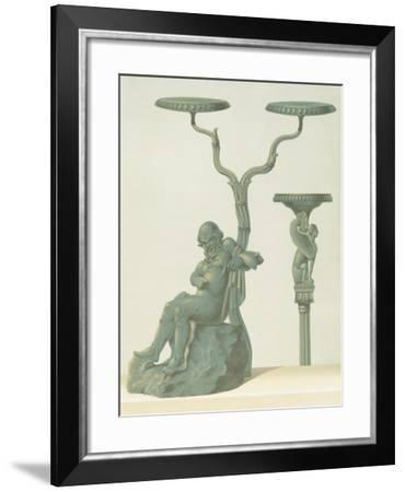 Reproduction of a Candlestick with Silenus-Fausto and Felice Niccolini-Framed Giclee Print