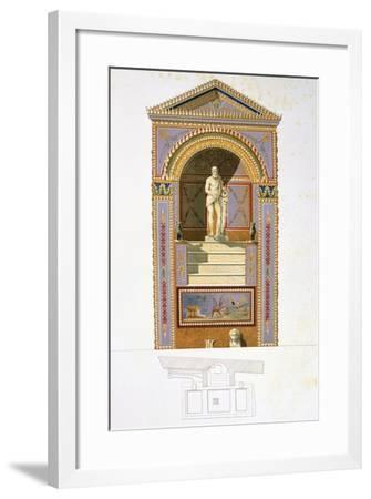 Reproduction of a Fresco Depicting a Nymphaeum-Fausto and Felice Niccolini-Framed Giclee Print