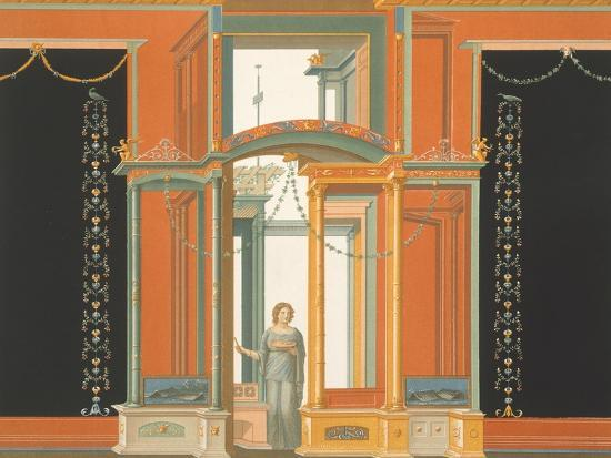Reproduction of a Fresco from a Wall of the Pantheon-Fausto and Felice Niccolini-Giclee Print