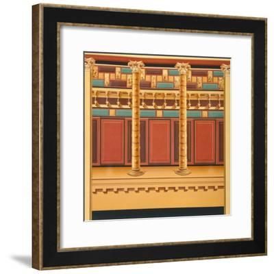 Reproduction of a Fresco, from the Houses and Monuments of Pompeii-Fausto and Felice Niccolini-Framed Giclee Print
