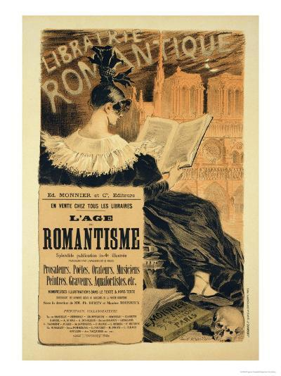 Reproduction of a Poster Advertising a Book Entitled The Romantic Age, 1887-Eugene Grasset-Giclee Print