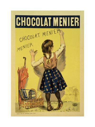 """Reproduction of a Poster Advertising """"Menier"""" Chocolate, 1893-Firmin Etienne Bouisset-Giclee Print"""