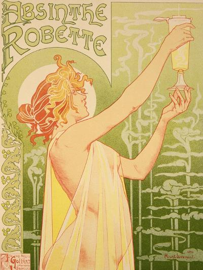 Reproduction of a Poster Advertising 'Robette Absinthe', 1896-Privat Livemont-Giclee Print