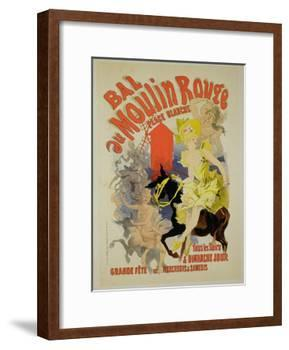 """Reproduction of a Poster Advertising the """"Bal Au Moulin Rouge,"""" 1889-Jules Chéret-Framed Giclee Print"""