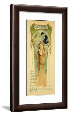 """Reproduction of a Poster Advertising the Opera """"Messaline,"""" Casino De Monte Carlo, 1898--Framed Giclee Print"""