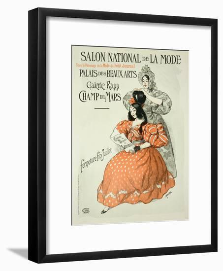"Reproduction of a Poster Advertising the ""Salon National De La Mode,"" Rapp Gallery, Paris, 1896- Roedel-Framed Giclee Print"