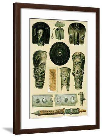 Reproduction of Armor and Weapons, from the Houses and Monuments of Pompeii-Fausto and Felice Niccolini-Framed Giclee Print
