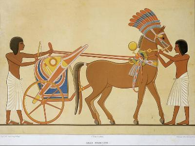 Reproduction of Fresco Depicting Princely Chariot of 18th Dynasty--Giclee Print