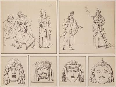 Reproduction of Some Murals Depicting Tragic Scenes and Other Tragic Masks-Fausto and Felice Niccolini-Giclee Print
