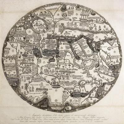 Reproduction of the Circular Ecumene, also known as Mappa Mundi Borgia or Tavola Di Velletri--Giclee Print