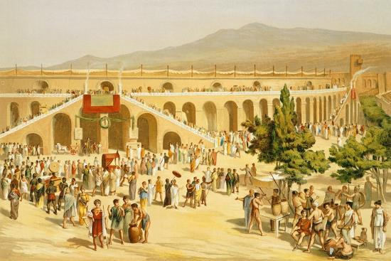 Reproduction of the Market-Fausto and Felice Niccolini-Giclee Print