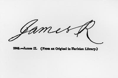 Reproduction of the Signature of James II--Giclee Print
