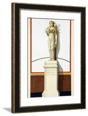 Reproduction of the Statue of Isis, from the Houses and Monuments of Pompeii-Fausto and Felice Niccolini-Framed Giclee Print