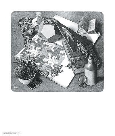 Reptiles-M^ C^ Escher-Art Print