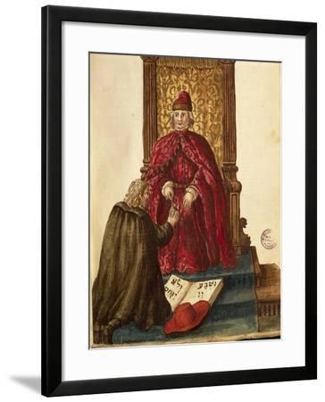 Republic Dignitary Swearing Loyalty to Venetian Doge-Jan van Grevenbroeck-Framed Giclee Print