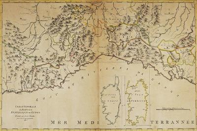 Republic of Genoa, Map, London, 1764-Andrew Dury-Giclee Print