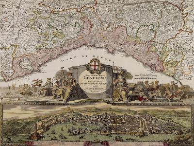 Republic of Genoa, Map, Nuremberg--Giclee Print
