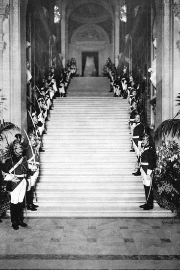 Republican Guards at a Reception, Town Hall, Paris, 1931-Ernest Flammarion-Giclee Print