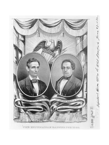 Republican Presidential and Vice Presidential Nominees of 1860--Giclee Print