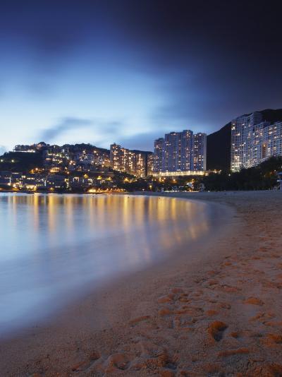 Repulse Bay Beach at Dusk, Hong Kong Island, Hong Kong, China, Asia-Ian Trower-Photographic Print