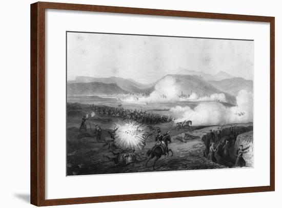 Repulse of the Russians, Battle of Kars, Turkey, Crimean War, September 1855-G Greatbach-Framed Giclee Print