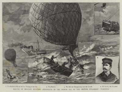 Rescue of Belgian Military Aeronauts in the North Sea by the British Steamship Warrior--Giclee Print