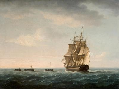 Rescue of the Guardian's Crew by a French Merchant Ship, 2nd January 1790-Thomas Buttersworth-Giclee Print