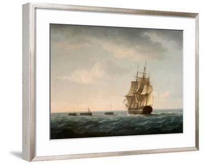 Rescue of the Guardian's Crew by a French Merchant Ship, 2nd January 1790-Thomas Buttersworth-Framed Giclee Print