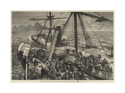 Rescue of the Survivors of the Deutschland by the Harwich Steam Tug Liverpool--Giclee Print