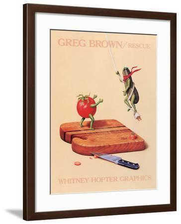 Rescue-Greg Brown-Framed Art Print