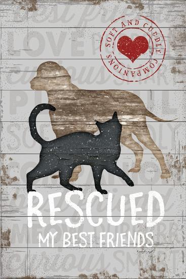 Rescued My Best Friend-Jennifer Pugh-Art Print