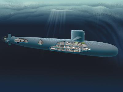 Research Submarine-Henning Dalhoff-Photographic Print