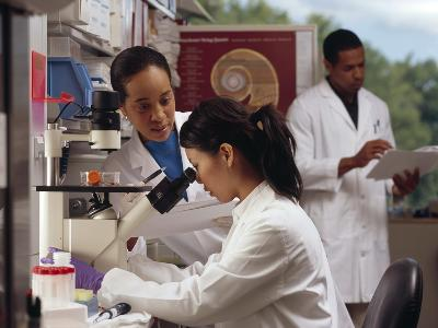 Researchers in Laboratory-Stocktrek Images-Photographic Print