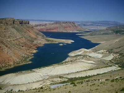 Reservoir on Green River, in the Flaming Gorge National Recreation Area, Utah Wyoming Border, USA-Waltham Tony-Photographic Print