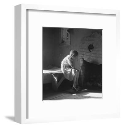 Resettled Farm Child-Dorothea Lange-Framed Art Print