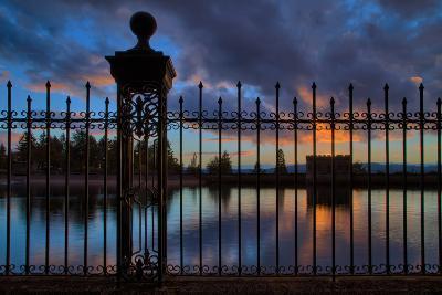 Resevoir Sunset at Mount Tabor, Portland Oregon, PDX-Vincent James-Photographic Print