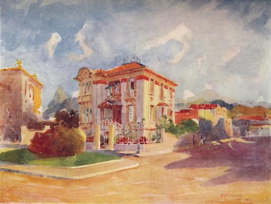 'Residence of H.E. Dr. Pedro de Toledo, ex-Minister of Agriculture, Avenida Beira Mar', 1914-Unknown-Giclee Print